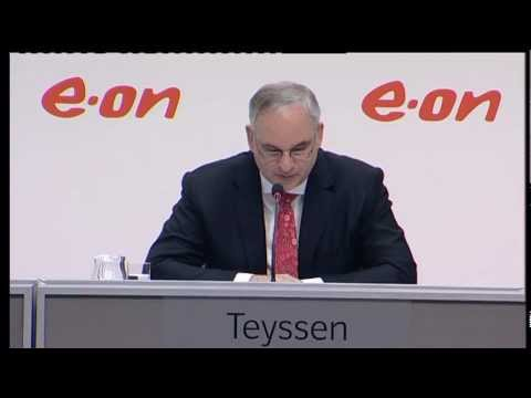 E.ON CEO Dr. Johannes Teyssen at the company's annual-result
