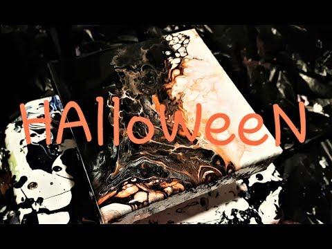 Quicky Creepy 2018 Halloween Fluid Painting