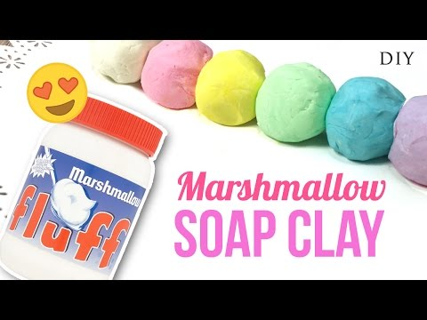 DIY SOAP CLAY With Marshmallow Fluff! Make Squishy Soap!