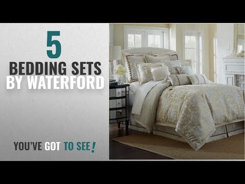 "Top 10 Waterford Bedding Sets [2018]: Waterford Linens ""Olivette"" Reversible Comforter Set in"