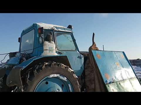 Сибирь. Запуск трактора МТЗ-82 в мороз №2