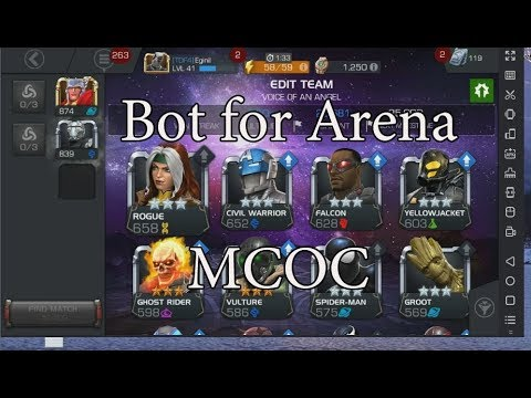 Bot for arena Marvel Contest of Champions hack  AUTO FIGHT 24/7 update 17 0  (December)