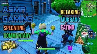 ASMR Gaming | Fortnite Mukbang Eating Crunchy Chex Mix Commentary 먹방 ???????? Relaxing Whispering????????