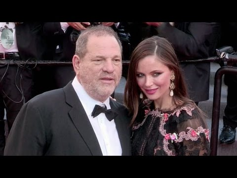 Producer Harvey Weinstein and his wife Georgina Chapman attend the red carpet of Le Petit Prince in