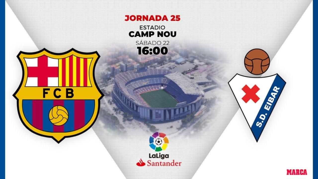Barcelona VS Eibar en directo! // la liga Santander - YouTube