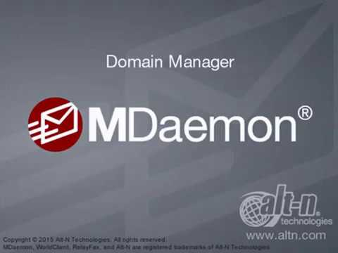 Domain & Server Settings - Domain Manager