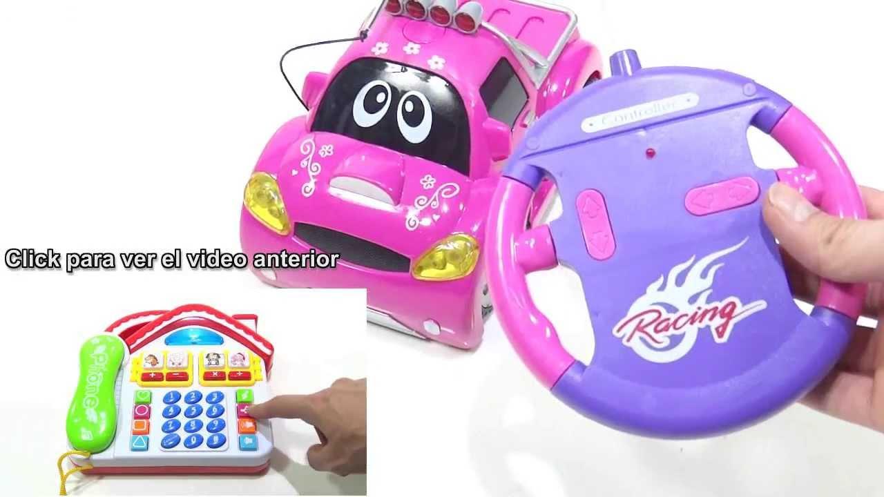 Carro De Juguete A Control Remoto Rosado Pink Para Ninas Recargable