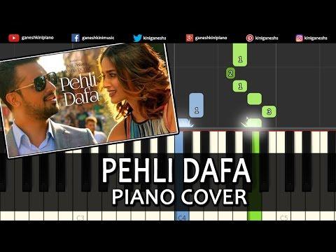 Pehli Dafa Atif Aslam|Hindi Song|Piano Chords Tutorial Lesson Instrumental Karaoke By Ganesh Kini