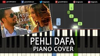 Pehli Dafa Atif Aslam|Hindi Song|Piano Chords Tutorial Lesson Instrumental Karaoke By Ganesh Kini