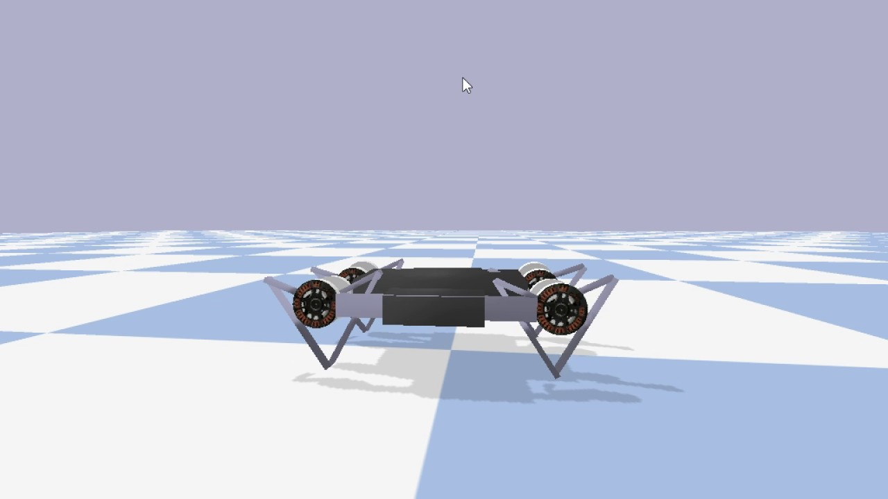 Real Minitaur robot log, play back using pybullet