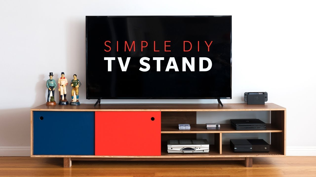 How To Make a DIY Mid Century Modern TV Stand | Woodworking - YouTube