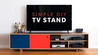 How To Make a DIY Mid Century Modern TV Stand | Woodworking