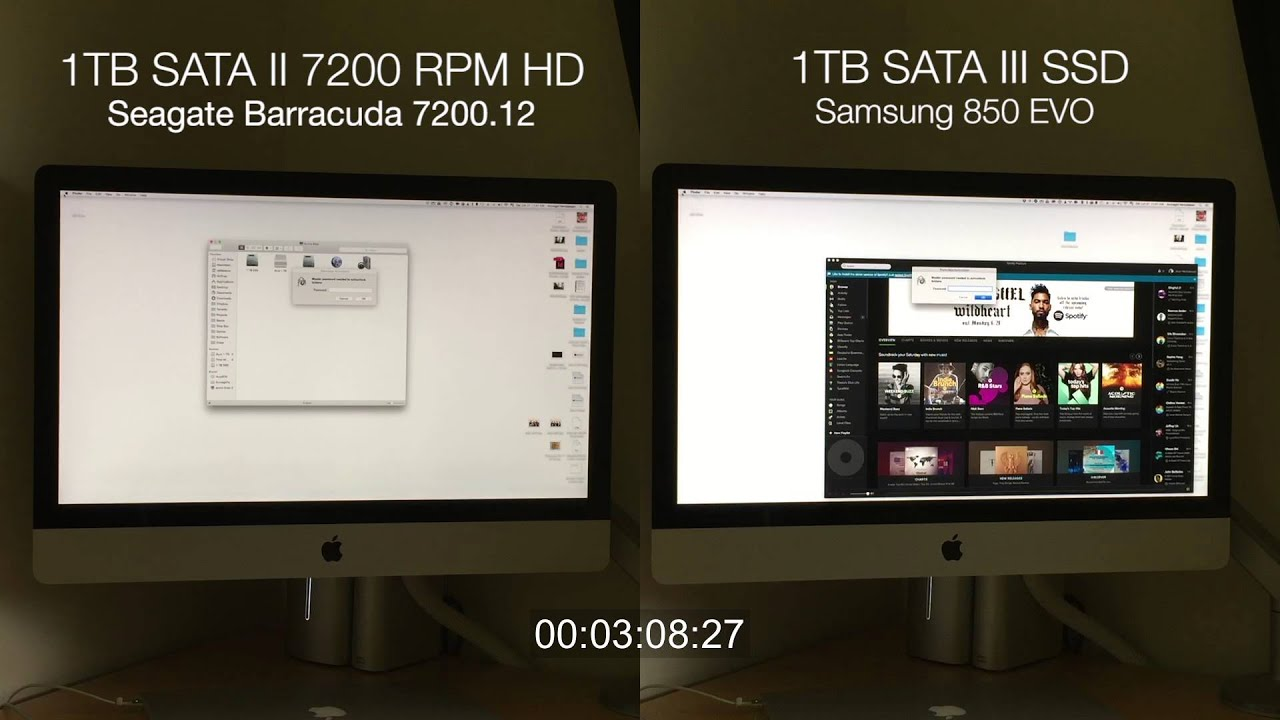 iMac Intel i7 with SSD Boot Up - video dailymotion