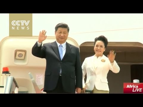 President Xi Jinping arrives in Harare for a state visit to