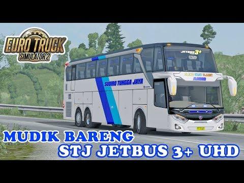 STJ JETBUS 3+ UHD, BARU RILIS LANGSUNG DI BAWA NGBLONG - ETS2 Mod Indonesia - 동영상