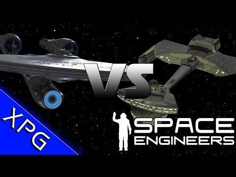 Space Engineers - Enterprise Vs K't'inga & B'rel