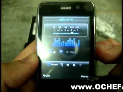 Www.OCHEFAO.com.br Celular Mini Hiphone H601 Quad Band Com Dois Chips, 2 Câmera, Java Com Tv
