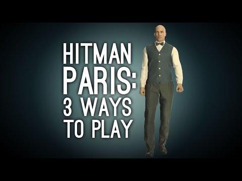 Hitman Gameplay: Paris - 3 Ways to Play (Balcony Double Kill, Sheikh Disguise, Poison Cocktail)