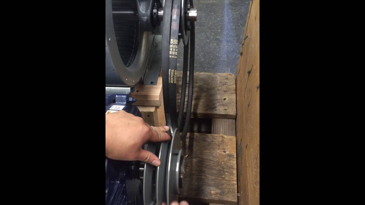How to Adjust Motor Sheave