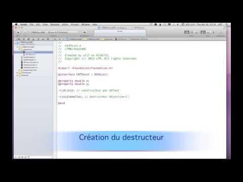 1.2 - XCode : Les bases avec ARC ou sans ARC - partie 1