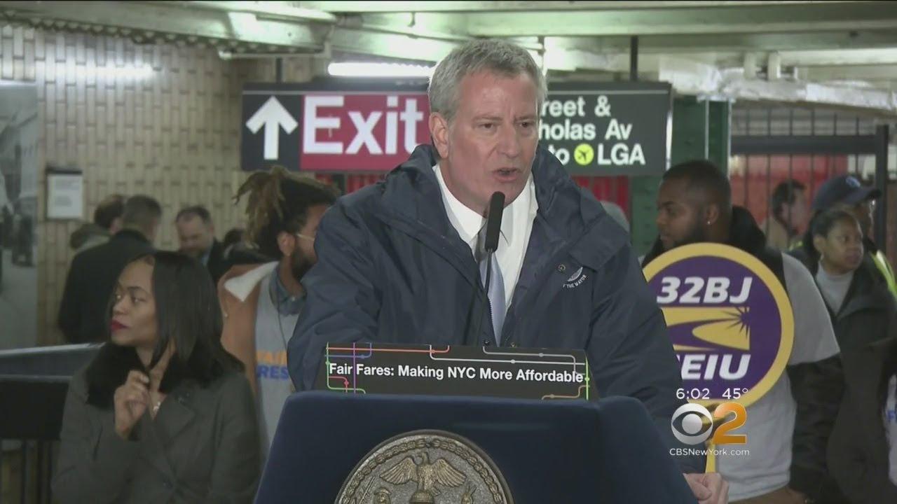 De Blasio Responds To Cuomo's Plans To Scrap L Train Shutdown