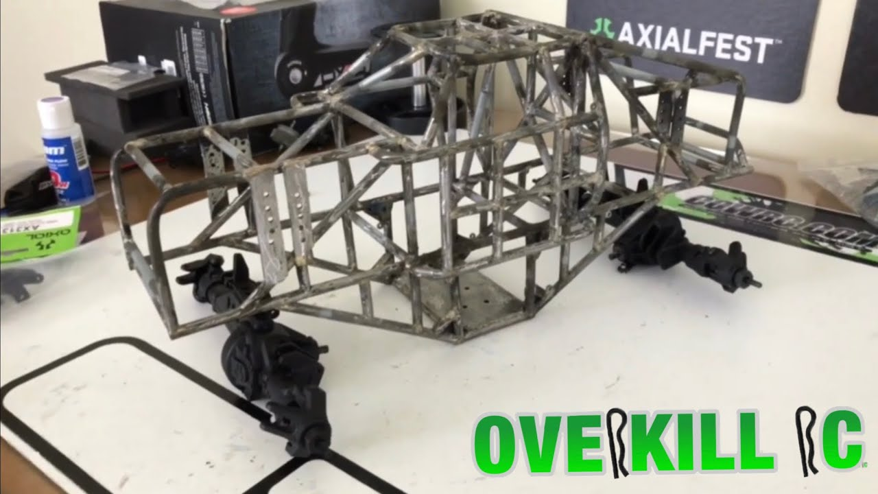 Mini Trophy Truck >> MINI-D PROJECT | PT 1 | AR60 Axles | Custom Monster Truck Tube Chassis Build | Overkill RC - YouTube