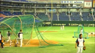 バレンティン選手 打撃練習(11/07/15東京ドーム)