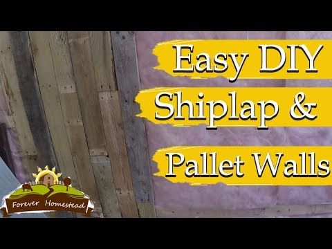 DIY Cheap Wall Finishes (Finishing walls in the Shipping Can Tiny House)