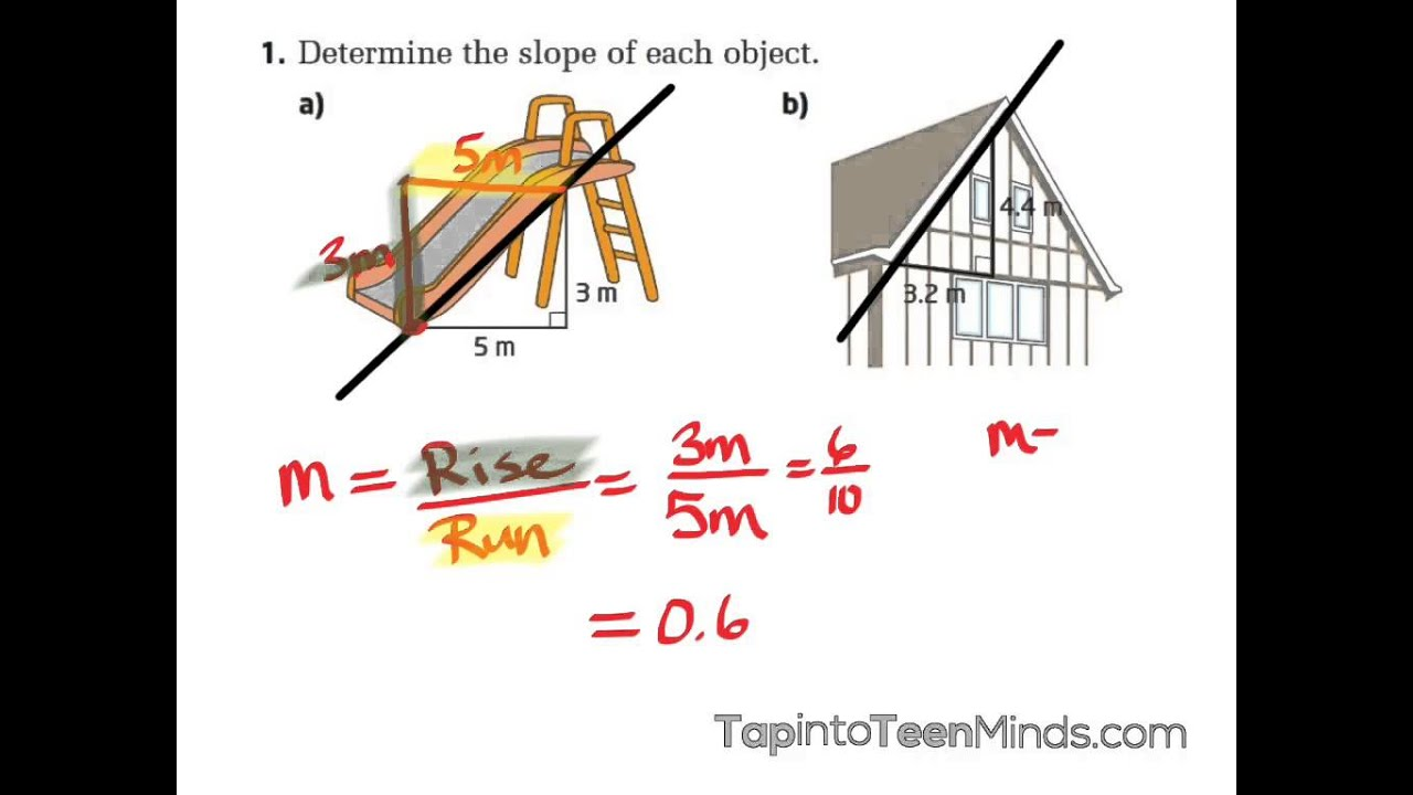 4 3 Finding The Rate Of Change Slope Of A Line Using