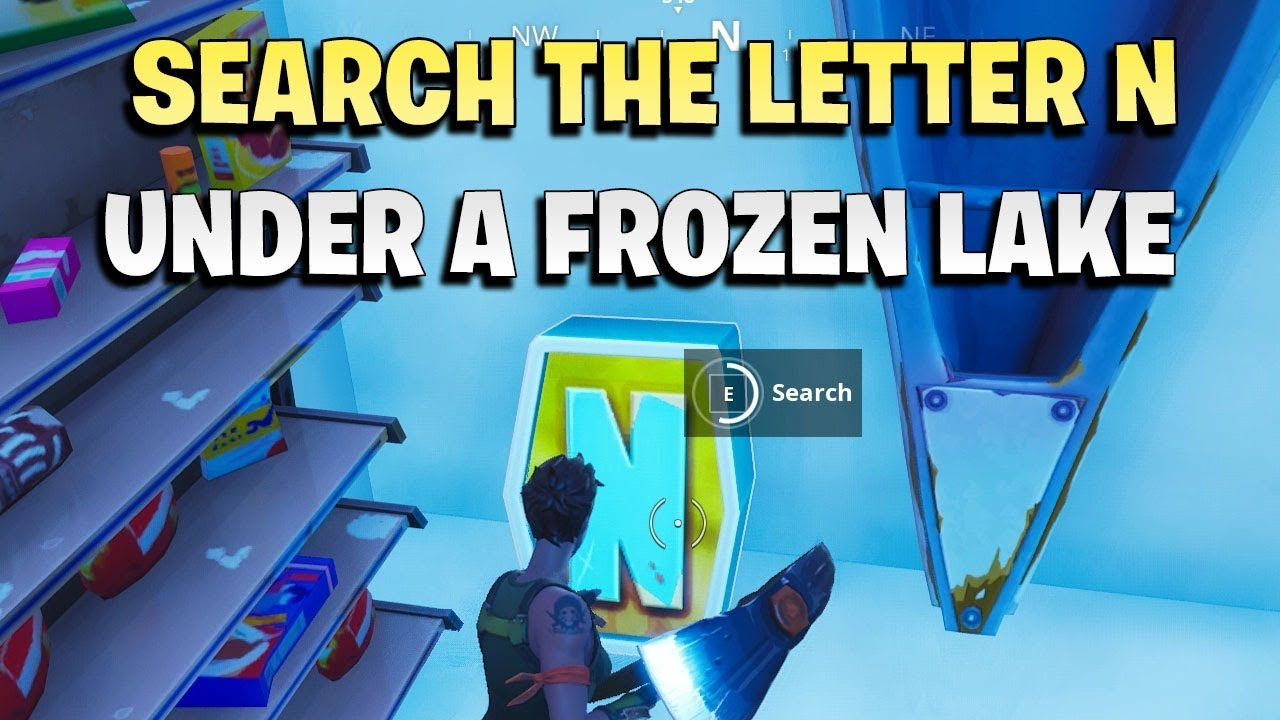 Search the letter 'N' under a Frozen Lake   YouTube