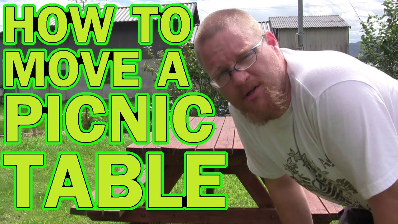 How To Move A Picnic Table YouTube - Picnic table mover
