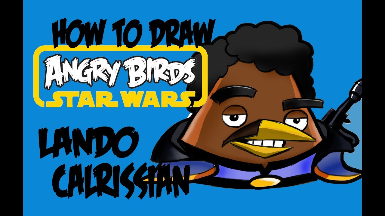 How To Draw Angry Birds Star Wars Lando Calrissian