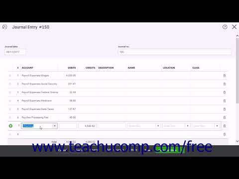 QuickBooks Online Plus 2017 Tutorial Manually Recording External Payroll Intuit Training