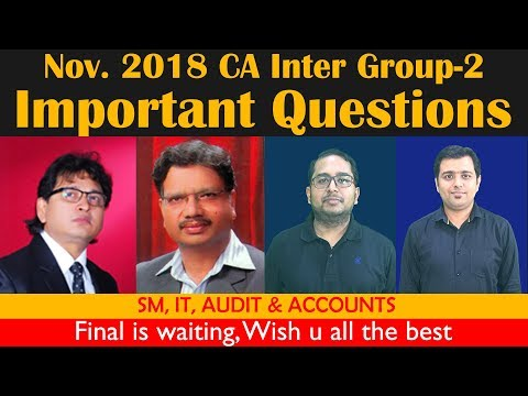 Important Question  of CA Inter Nov 18