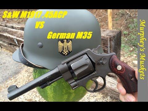 S&W M1917 VS M35 Helmet
