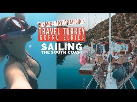 Sailing Turkey's Turquoise Coast Fethiye to Olympos -  Travel Turkey GoPro Vlog ep6