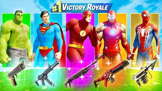 The *ULTIMATE* Fortnite Superhero Skin Challenge!