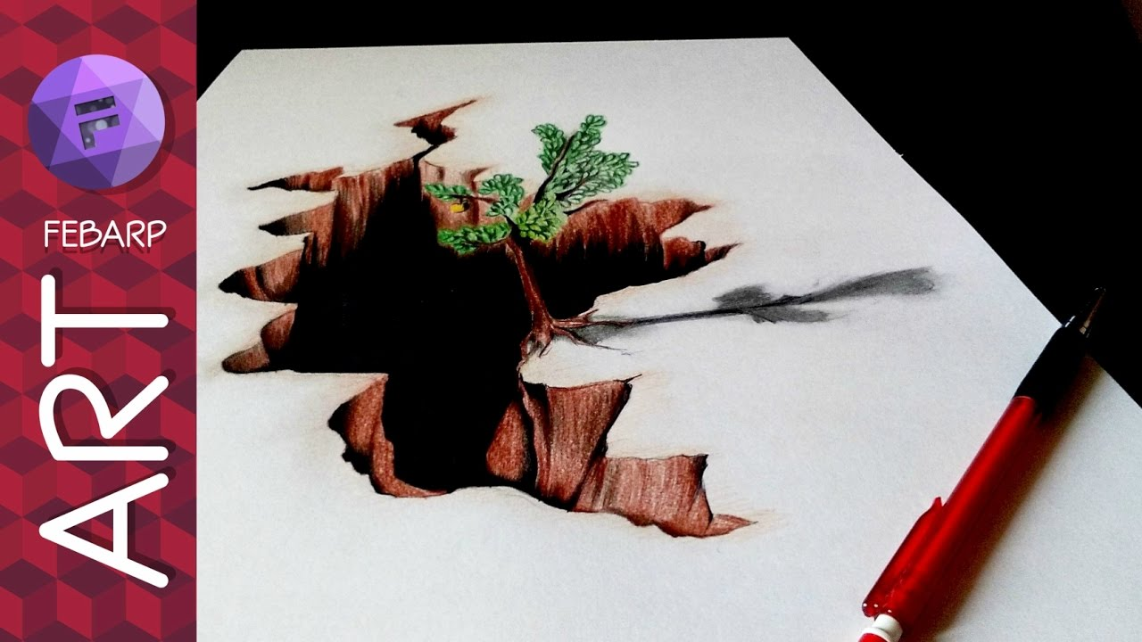 3d pencil drawing images of nature
