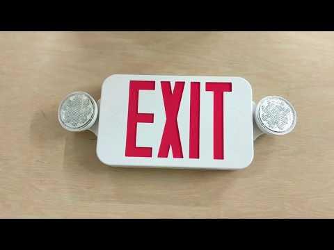 ELCCOMBOJR2 - LED Exit Light (Exit Sign + Emergency Light Combo)