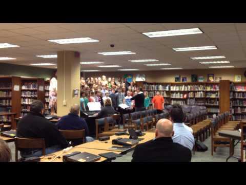 "Pulaski Community Middle School 8th Grade Choir Performs ""We Will"""