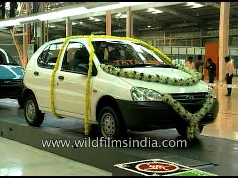 Tata Indica Car Factory Circa 1998 : Make In India Car Manufacturing Archival Footage