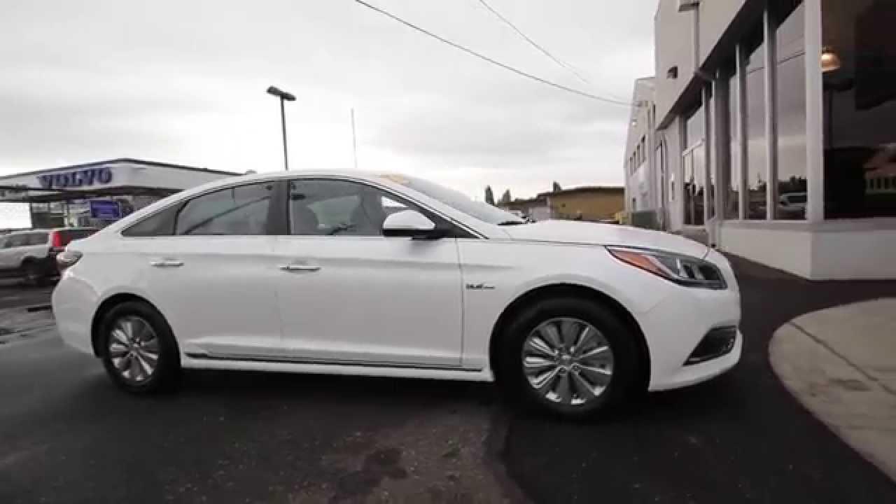 2016 Hyundai Sonata Hybrid Se White Ga013407 Skagit County Mt Vernon