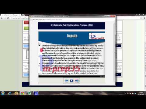 pm-prep35.com - Estimate Activity Durations Process