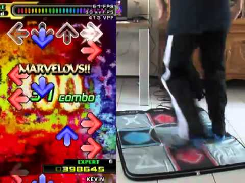 DDR/StepMania - Ω (OMEGA) - MAX 300 [boss song] Expert - A (OMGYES) on foam mat