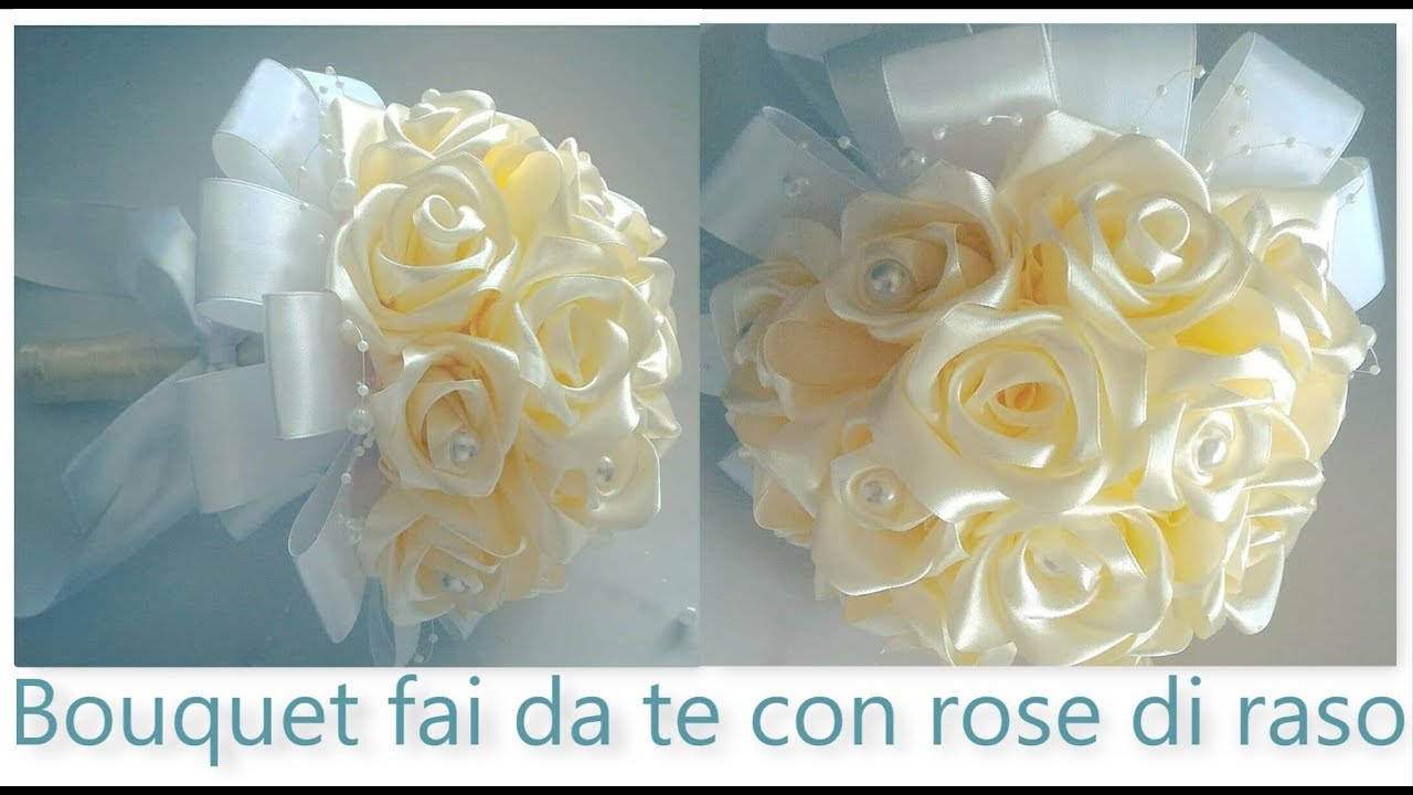 Tutorial Bouquet Sposa.Bouquet Fai Da Te Con Rose Di Raso Diy Bouquet With Satin Roses