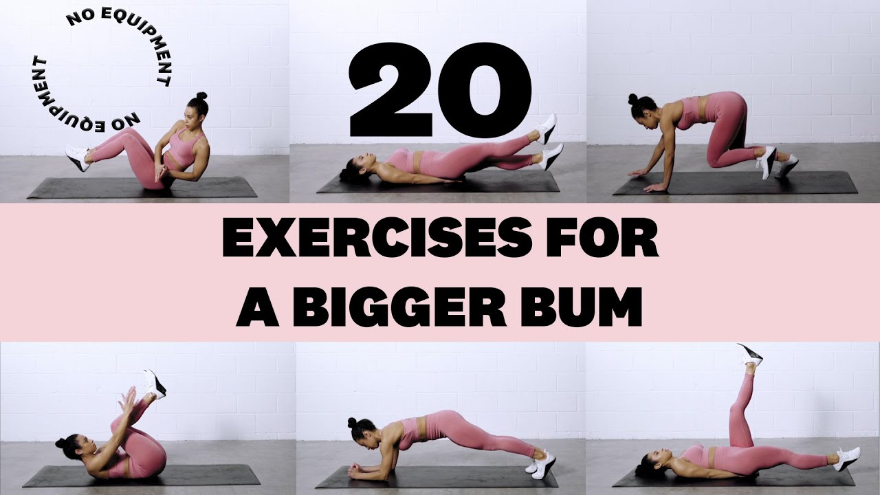 20 Best Exercises for a Bigger Bum Using No Equipment