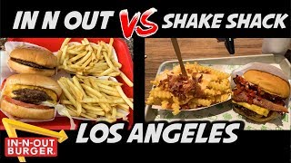 MIGLIOR HAMBURGER A LOS ANGELES  - IN N OUT VS SHAKE SHACK