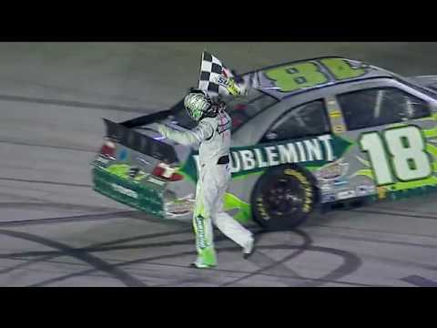 Kyle Busch wins Bristol night race, completes sweep