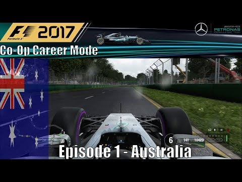 F1 2017 Co-Op Episode 1 - Australia (Dry Tyres On A Wet Track Challenge)