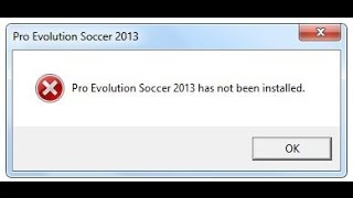 PES 2013 has not been installed - FIX (PC/HD)